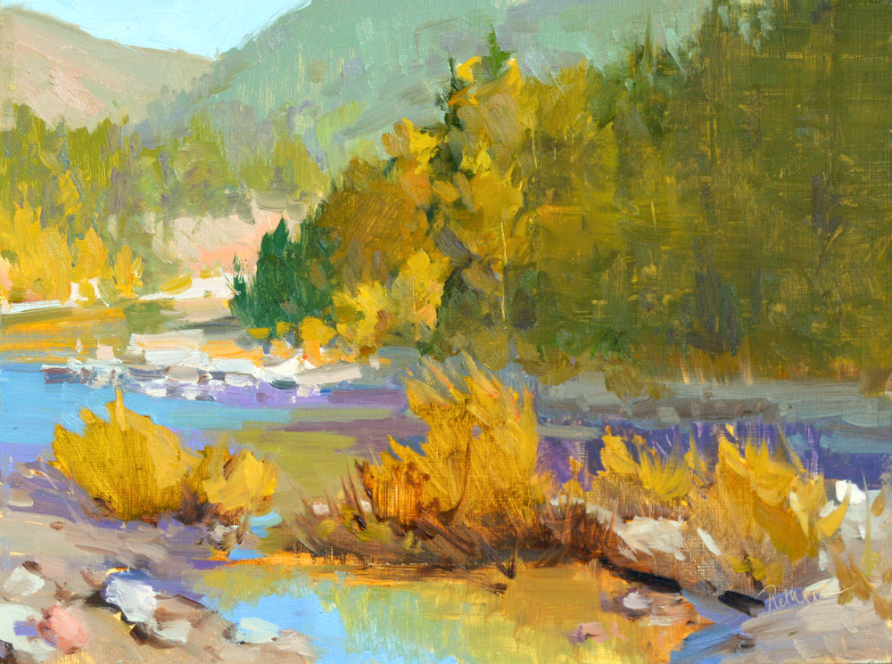 Magic in West Glacier, plein air, will be made available for  A Timeless Legacy: Peace Park 2018  exhibition. Contact the museum for purchase assistance  (406) 755-5268.