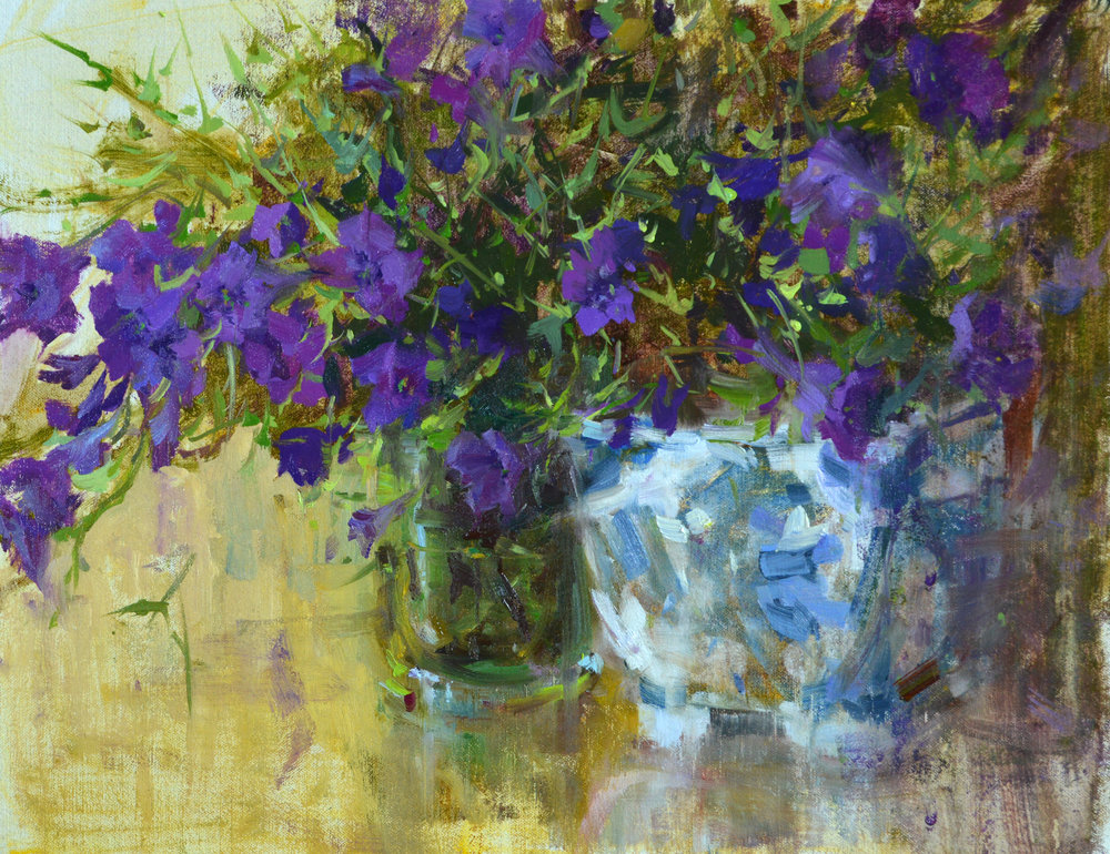 Summer Cut ,  14x18,  oil on linen. Sold. Find more florals by clicking here.