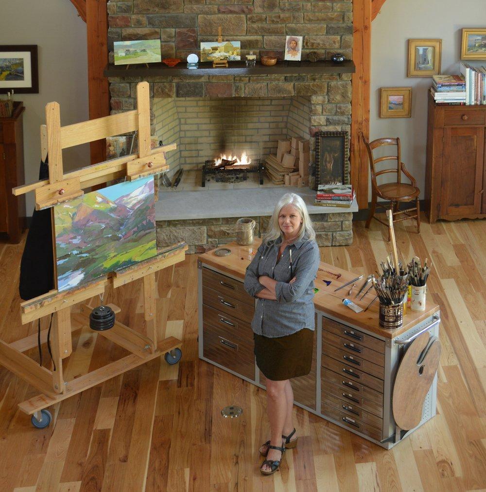 Lori in her studio