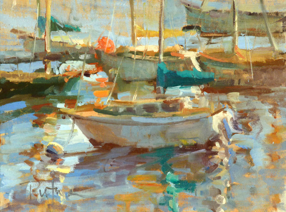 When Success is the Only OptionPlein air Magazine,by Stephen M. Doherty,April/May 2012 - Monterey Wharf, 9x12