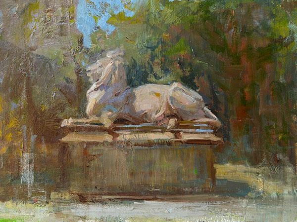 """""""Literary Guard"""", Oil, 11x14, Opening Bid, $950"""