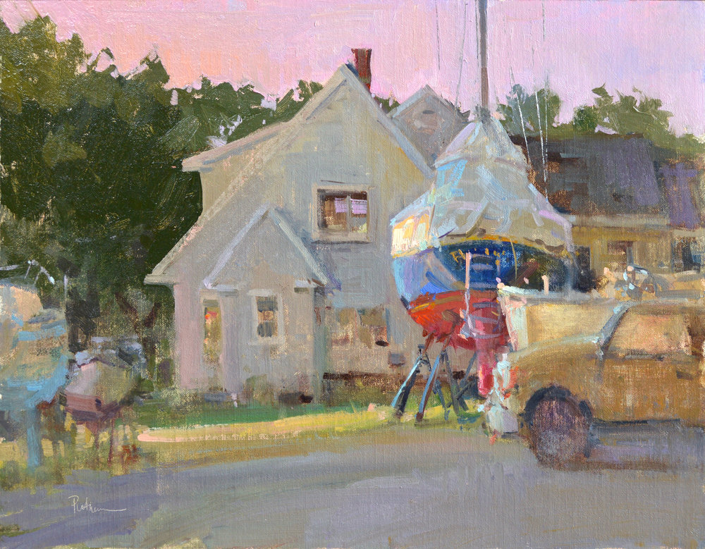 """Under Cover"", Oil, 14x18, Opening Bid, $1,300"
