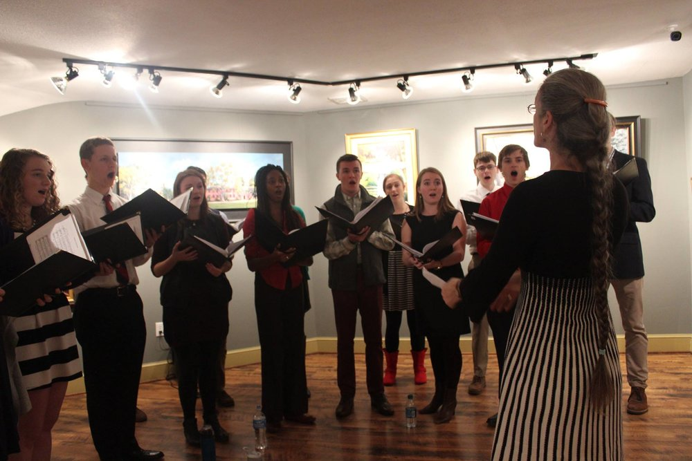 The College of William & Mary's Botetourt 'a capella' singers