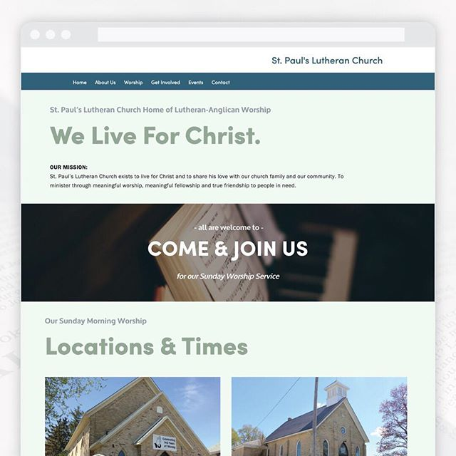 Website Feature - St. Paul's Lutheran Church ⛪️ Located in Listowel & Wallace ⠀⠀⠀⠀⠀⠀⠀⠀⠀ This website was designed to allow the clients the ability to update content on their own on a weekly and monthly basis. We kept the structure of the pages simple and easily accessible for visitors to find what they are looking for quickly and by using a soft colour palette and relatable images makes for an enjoyable user experience. ⠀⠀⠀⠀⠀⠀⠀⠀⠀ ⠀⠀⠀⠀⠀⠀⠀⠀⠀ ⠀⠀⠀⠀⠀⠀⠀⠀⠀ #lutheranchurch #stpaulslutheranchurch #churchwebsite #churchwebsitedesign #webdesign #design #graphicdesign #website #marketing #webdevelopment #webdesigner #seo #digitalmarketing #web #css  #creative #websitedesign #thehappynow #mycreativecommunity #pursuepretty #creativeminds #femaleentrepreneur #creativebusiness #calledtobecreative #creativepreneur #mycreativebiz #boulevardnorth #listowelontario #northperth #listowel