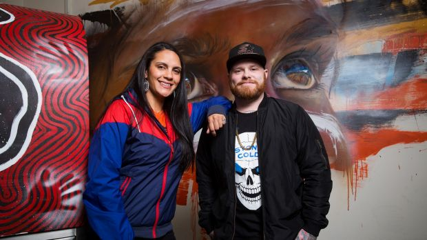 Nikita Rotumah and Ben Clark at the Melbourne Aboriginal Youth Sport and Recreation Co-Operative.