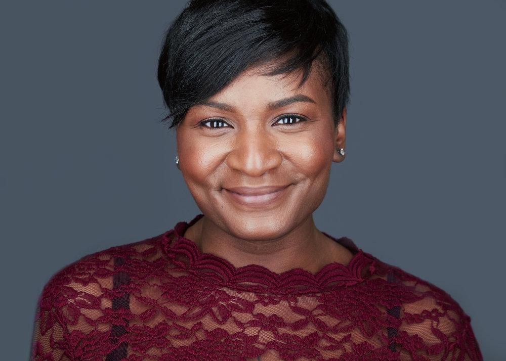 Black Woman Headshot Philadelphia Smile