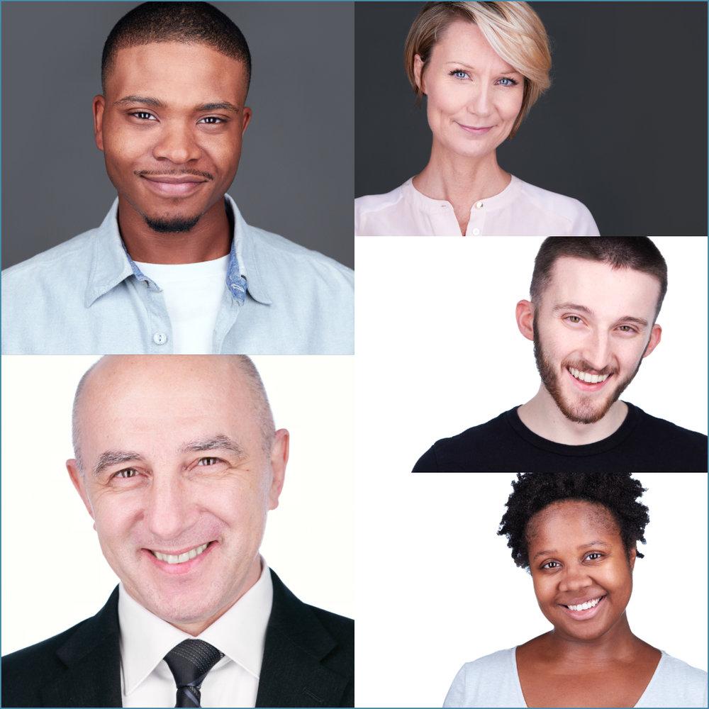 Acting Business Headshots Philadelphia Collage