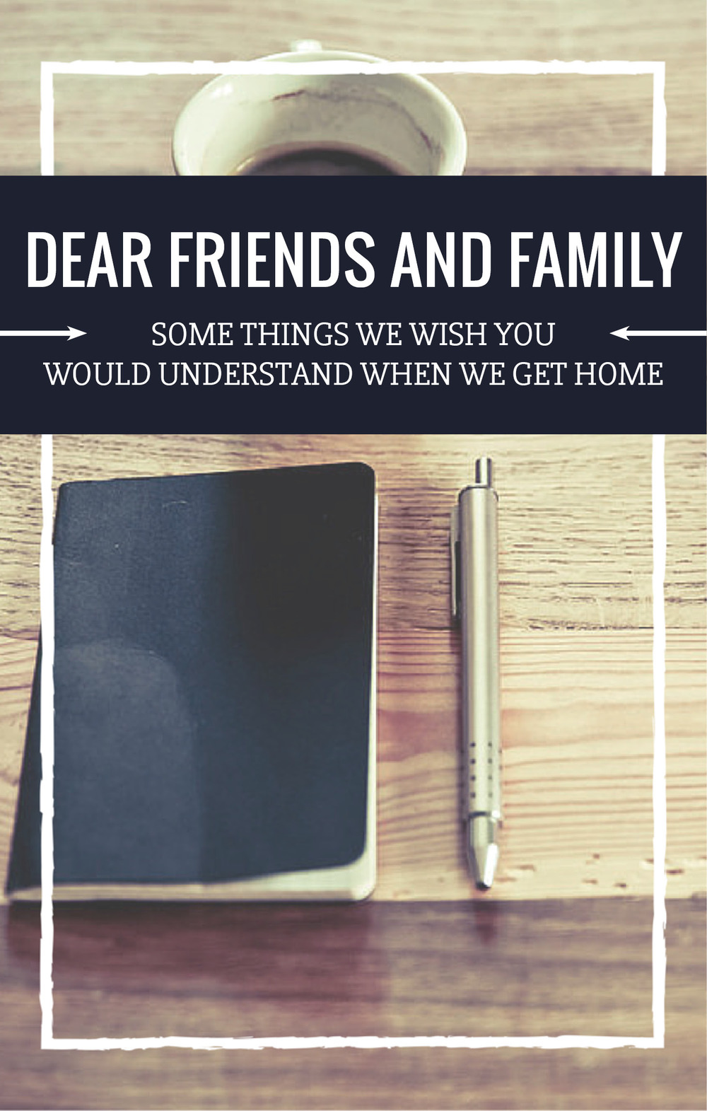 Dear Family and Friends: some things we hope you will understand - NJS Design Company