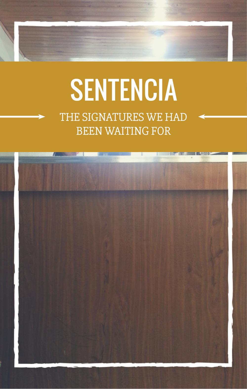 Sentencia the judge signed - NJS Design Company