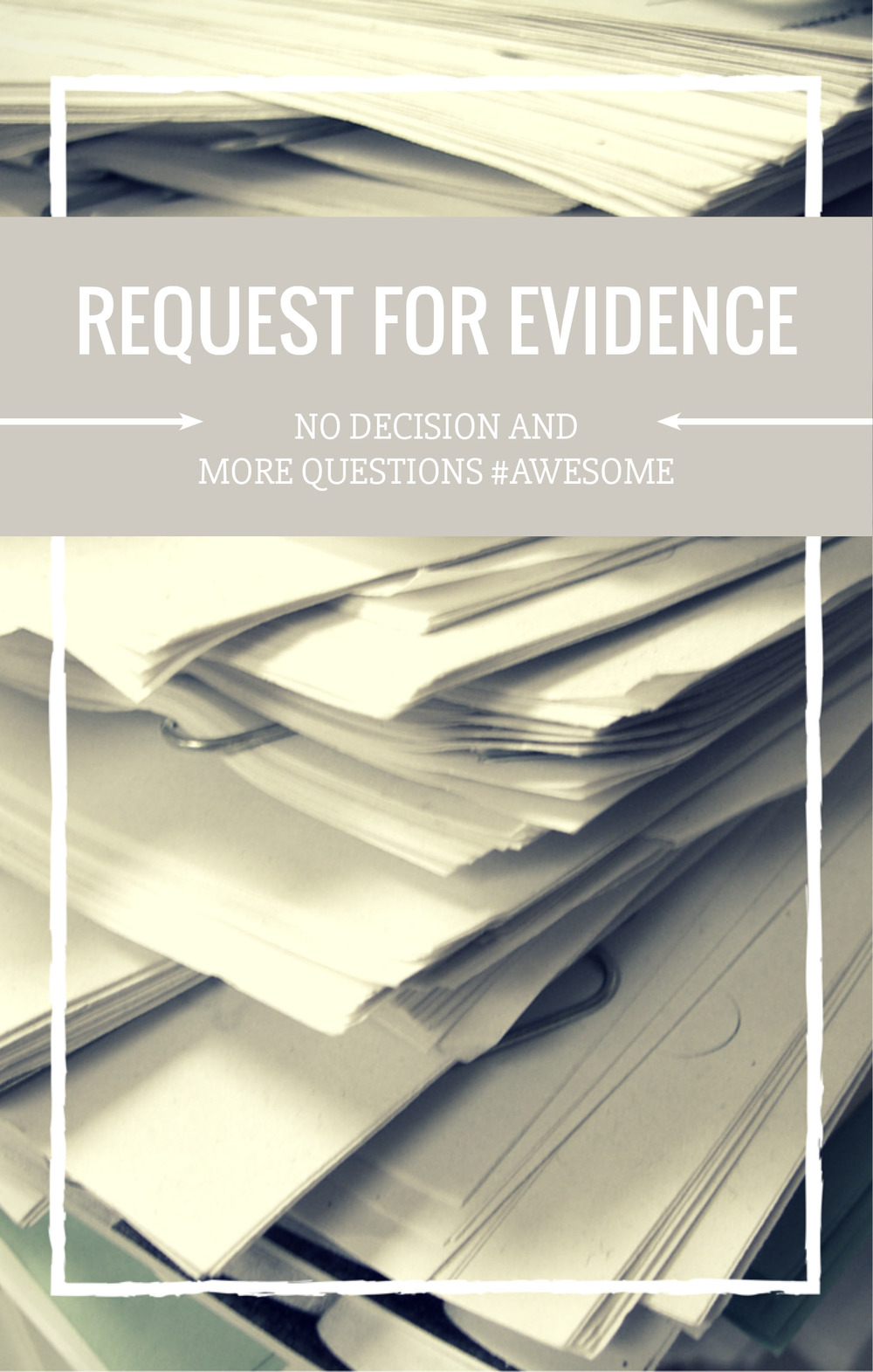 Request for Evidence - NJS Design Company