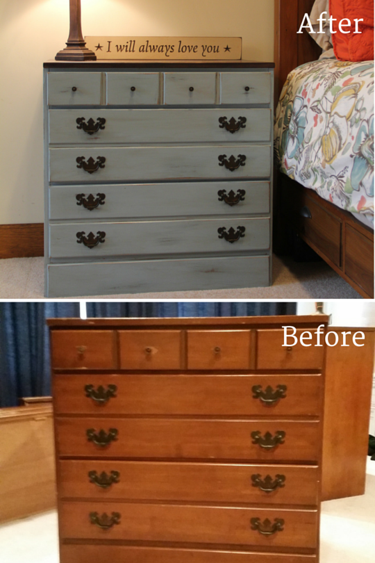 before and after dresser refinish- NJS Design Company