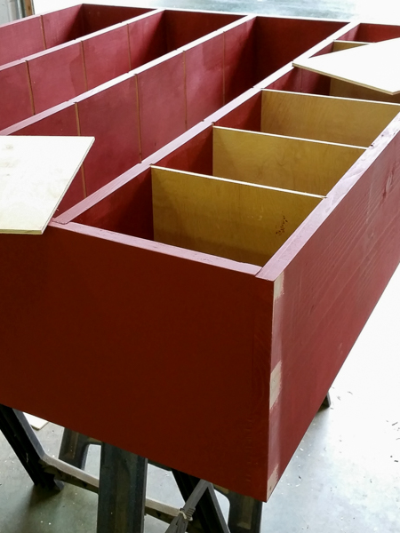 Dry fit the dividers to make sure they're right before painting them- NJS Design Company