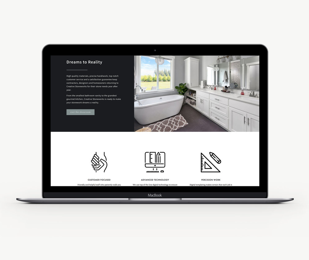 Custom designed Squarespace website template design theme
