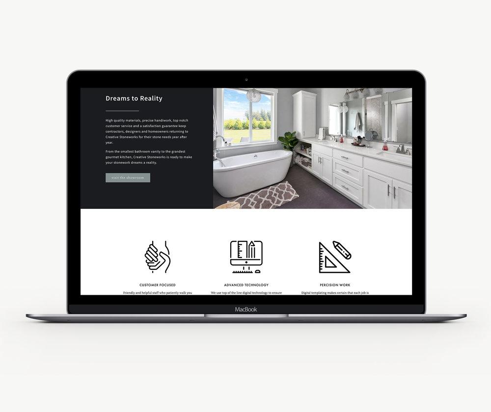 Custom designed Squarespace website template design theme