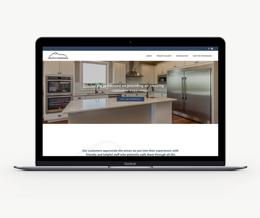 Custom designed Squarespace website template design theme for creatives, interior designers