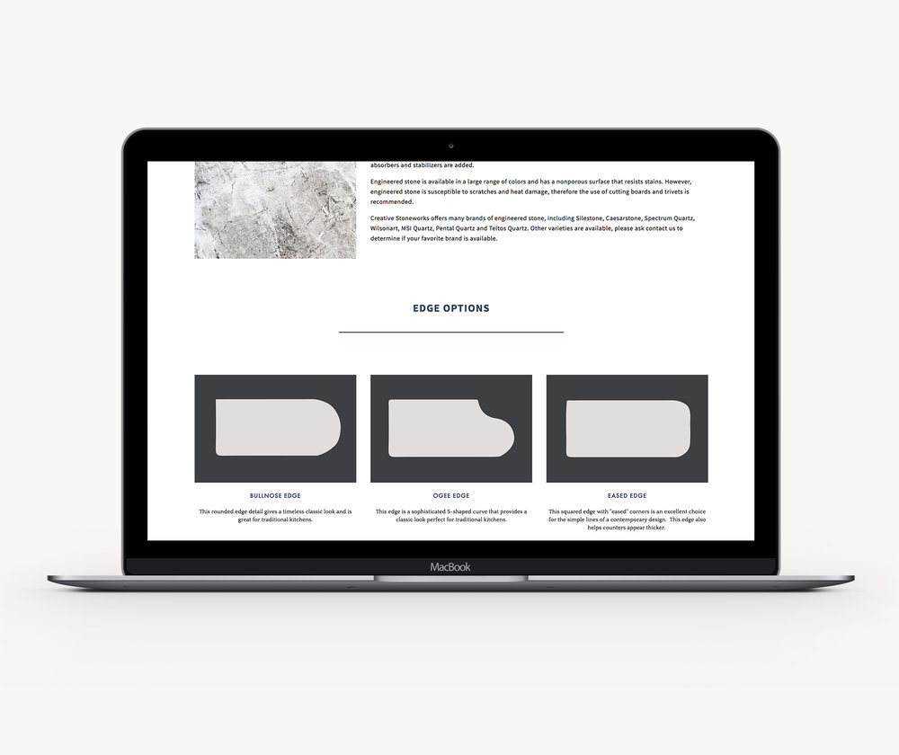 example site from njs design company who does custom branding and website design for the home design industry