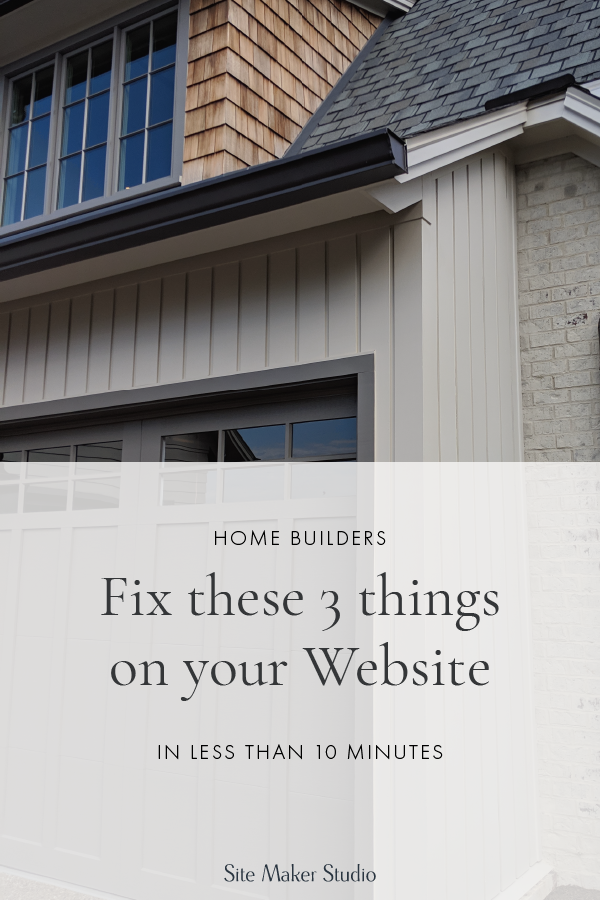 Wondering what website navigation best practices are for custom home builders architects and interior designers? Need help with a call to action? Fix these three things on your builder template website quick and easy.