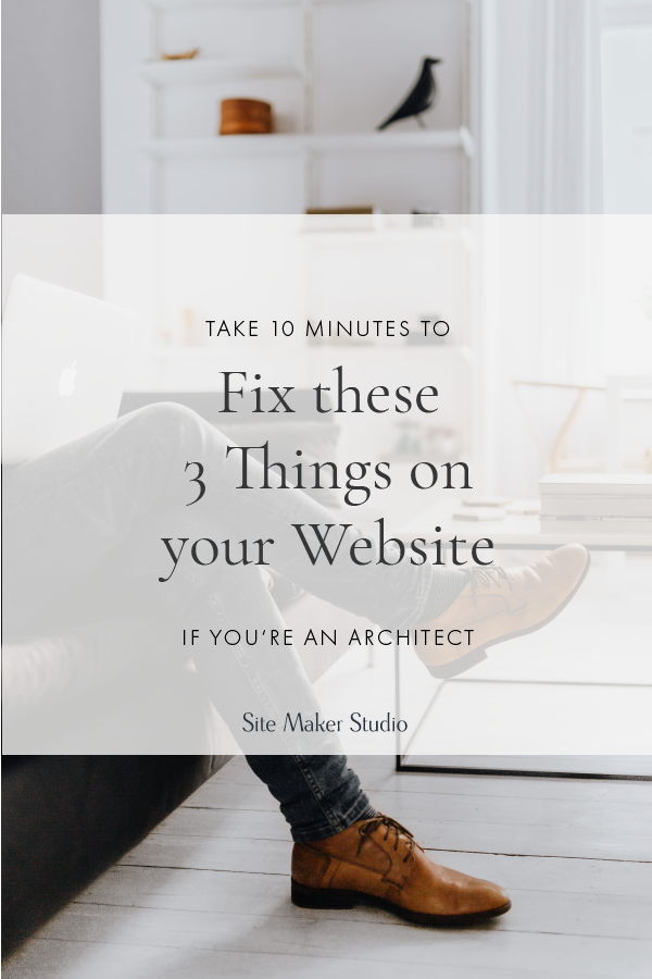 Wondering what website navigation best practices are for architects and interior designers? Hint, you need a call to action everywhere. Fix these three things on your builder template website quick and easy.