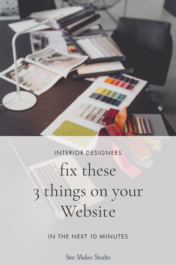 Website navigation and design can be tricky if you're an interior designer or work in the home industry. You know how to build a home well, but do you know how to repair your website? Hint, you need a call to action. Fix these three things on your website quick and easy.