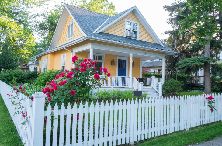charming white picket fence