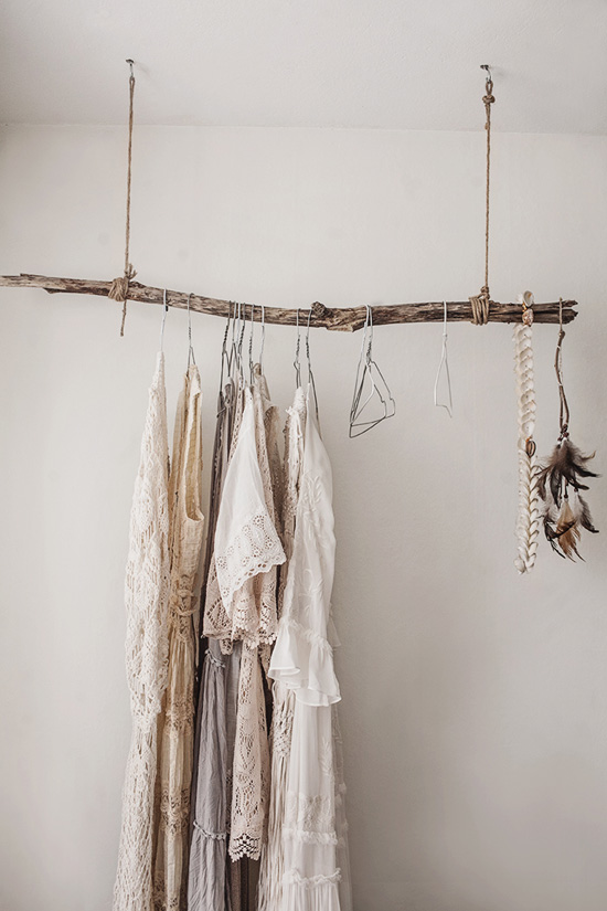 rustic clothes hanger rod