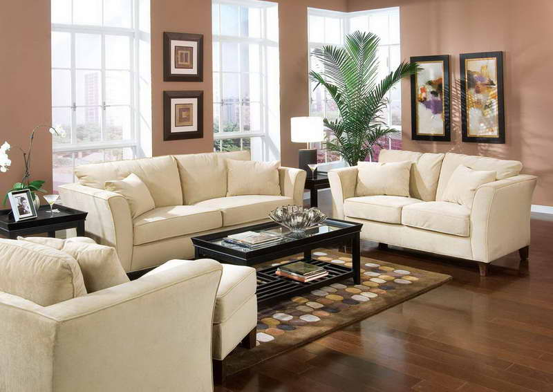 classy living room with bamboo palm