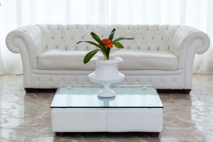 elegant white Grecian living room