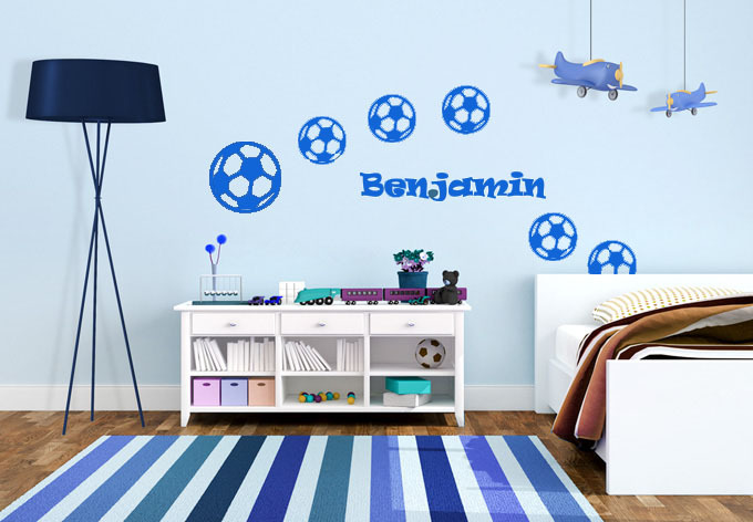 blue bedroom for young boys
