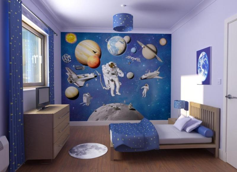 space travel themed bedroom