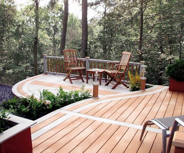 modern synthetic PVC decking