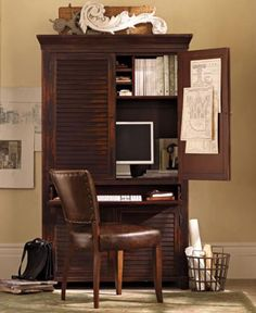 hide-away home office