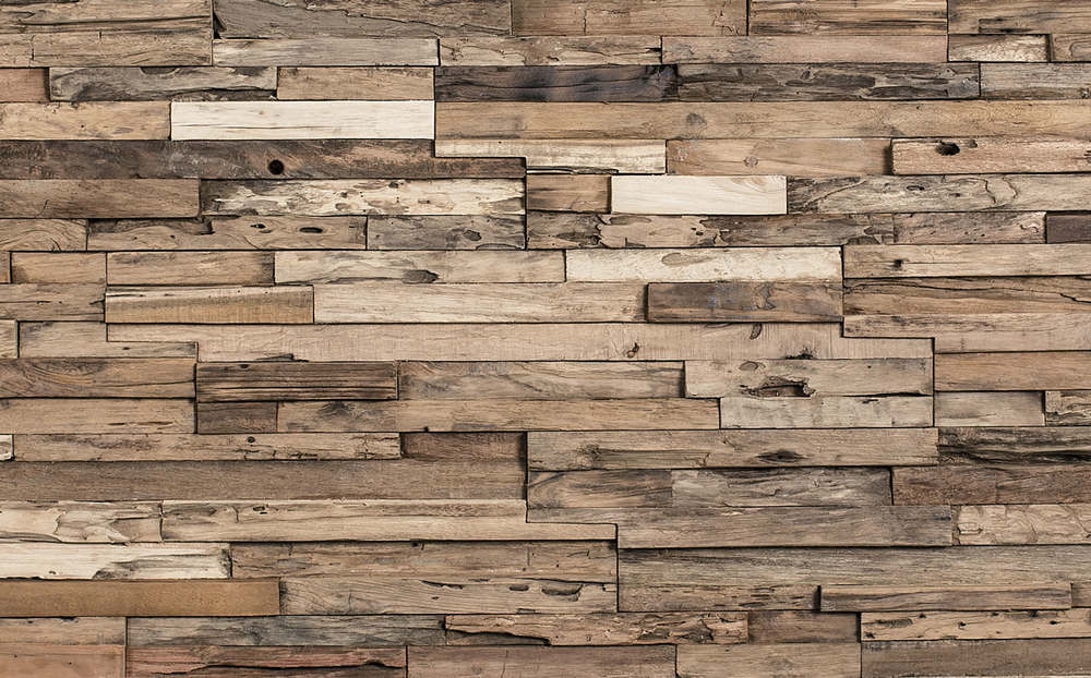 The rustic charm of recycled wood has remained a popular home design trend,  seen throughout modern spaces. Perfect for a feature wall, the warm, ...