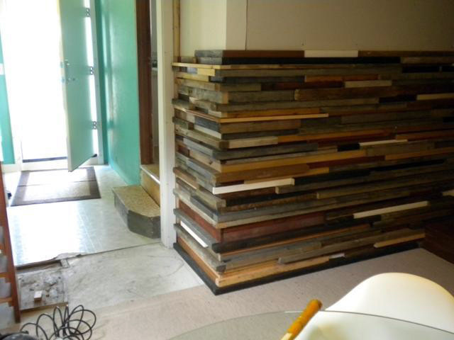 Diy Wall Covering Ideas : Weekend diy project recycled wood wall feature