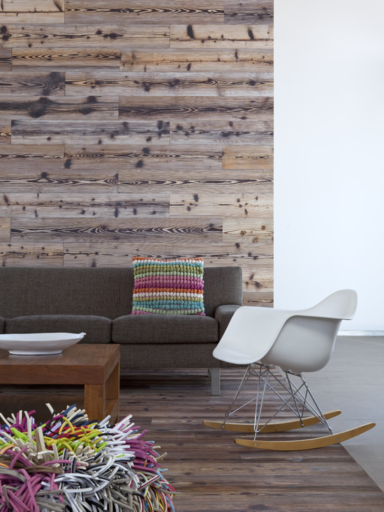 Living Room Feature Wall Decor: Weekend DIY Project 2: Recycled Wood Wall Feature