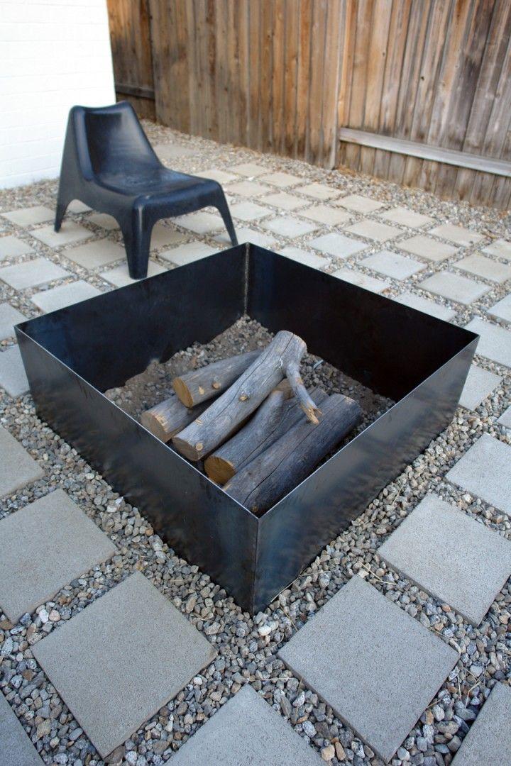 minimalist steel Fire Pit