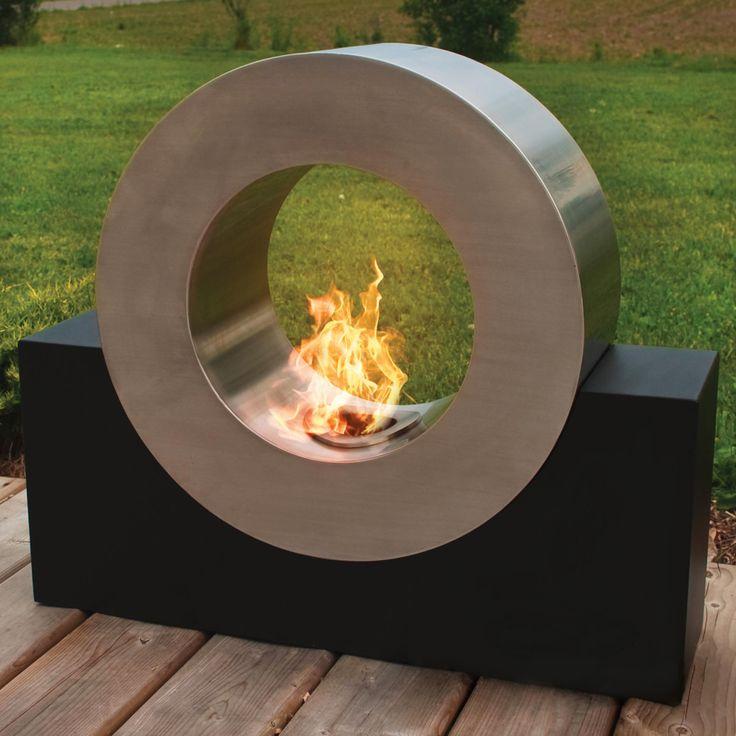 modern circular Fire Pit