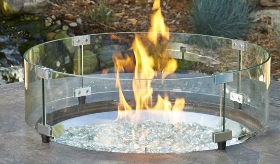glass encased Fire Pit