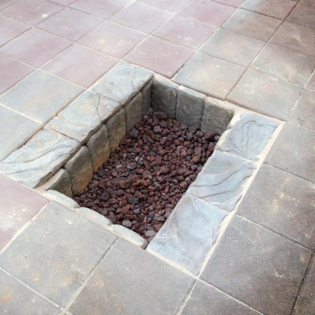 sunken stone Fire Pit