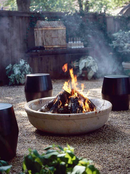 concrete Backyard Fire Pit