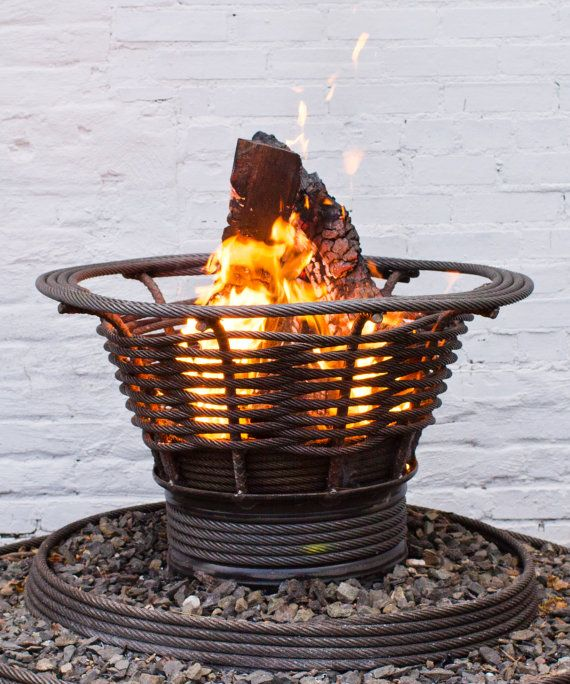 recycled cable wire Fire Pit