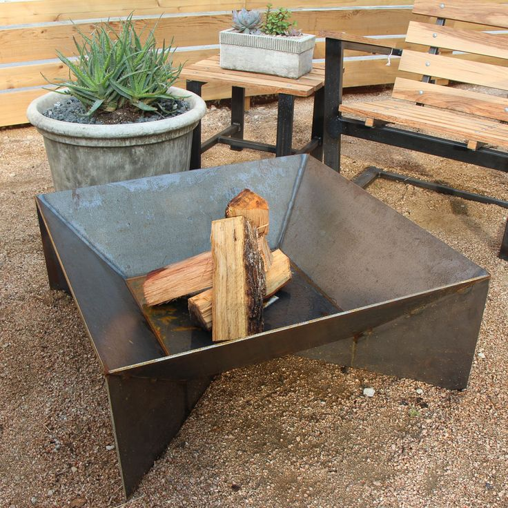 geometric steel Fire Pit