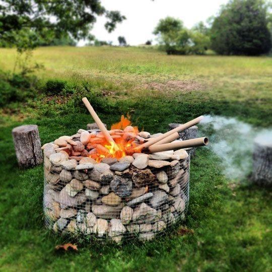 gabion Backyard Fire Pit