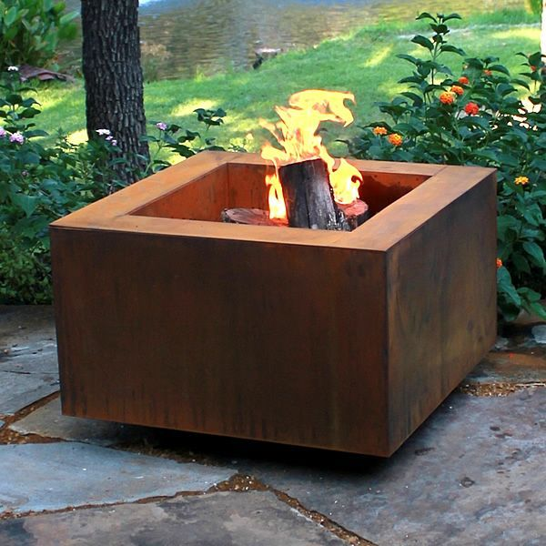 rusted steel Fire Pit