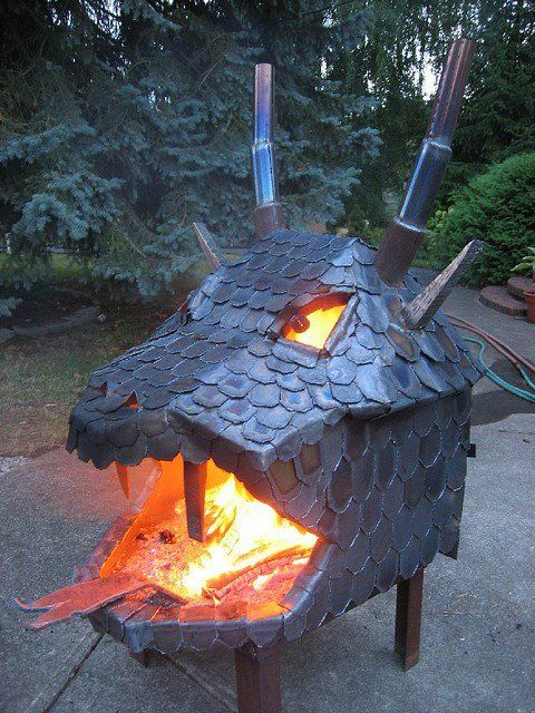 creative dragon Fire Pit