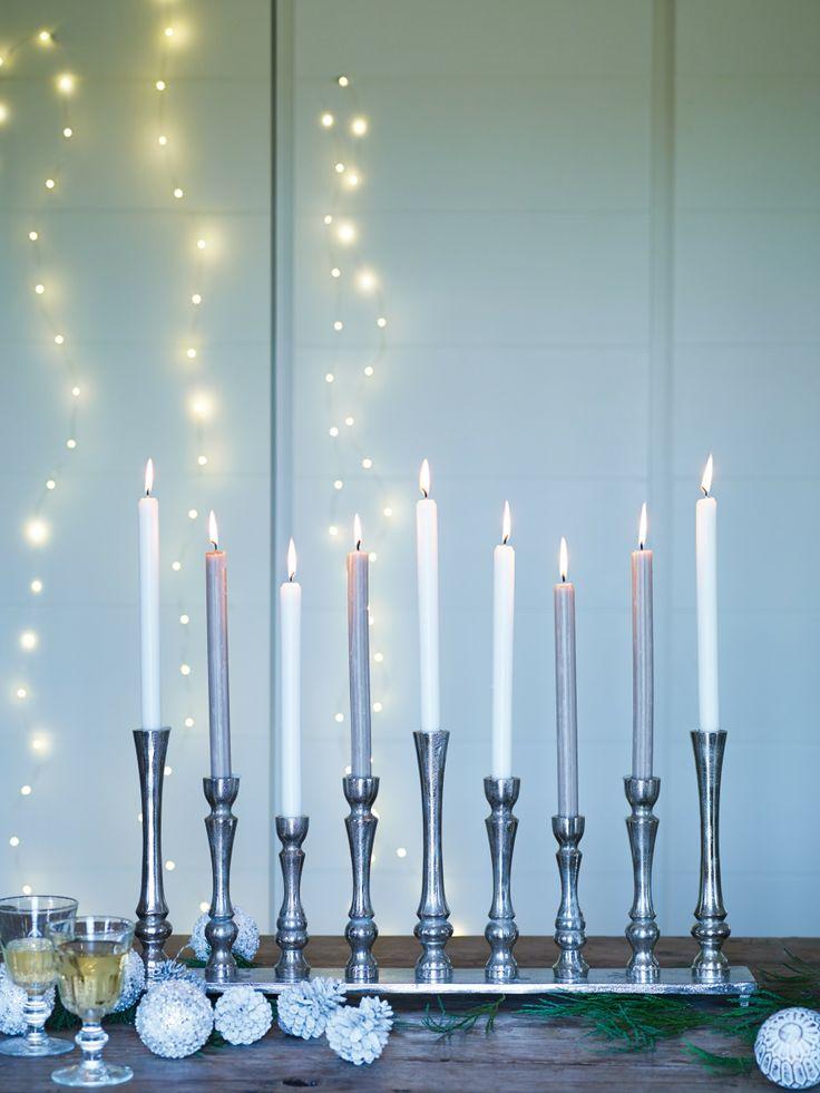 elegant silver candlesticks