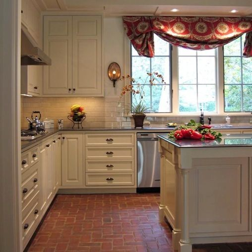 Red Brick Floor Kitchen : Refreshing ideas for white kitchens — renoguide