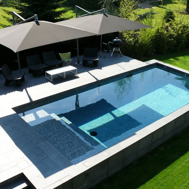 40 fantastic outdoor pool ideas renoguide for Square above ground pool