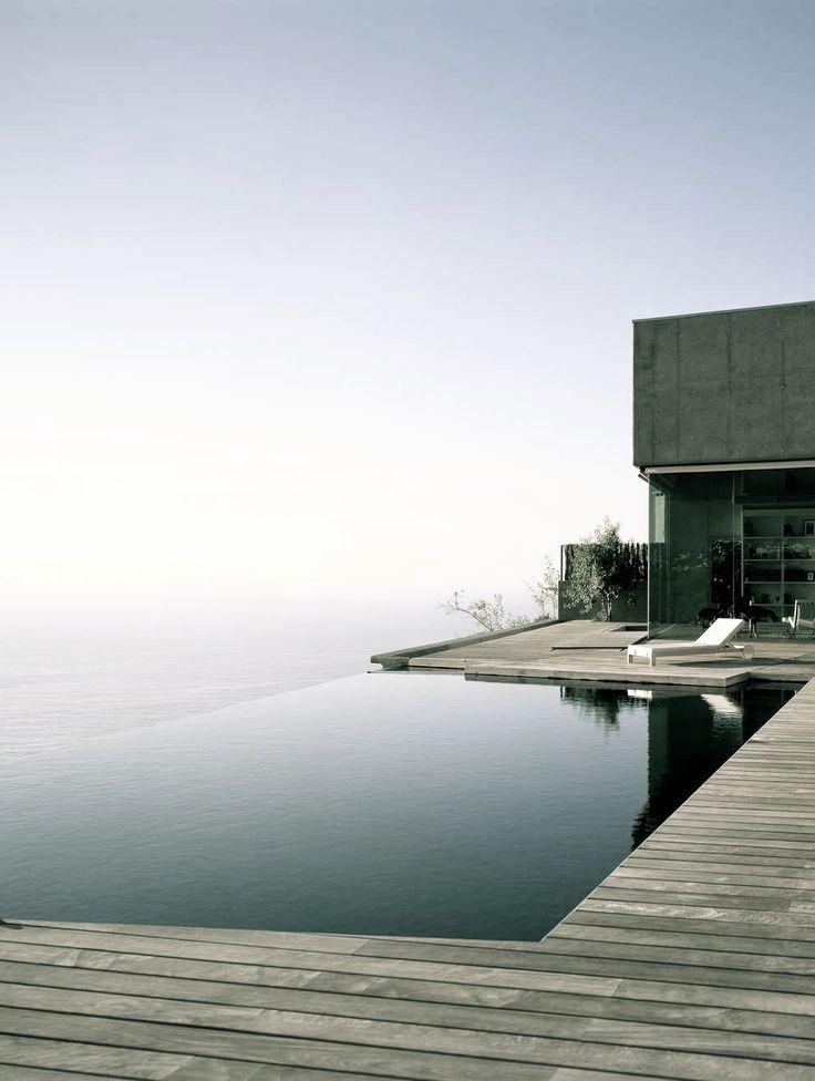 modern infinity pool & decking