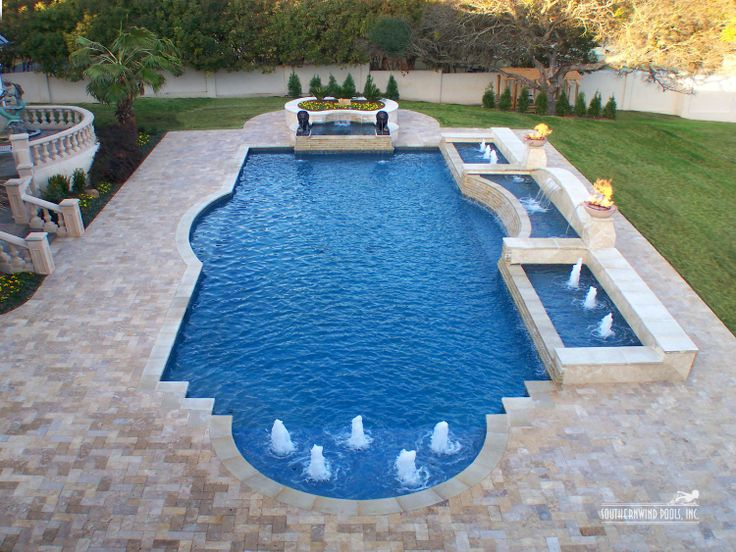 roman shaped pool