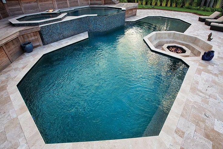 geometric pool with octagon features